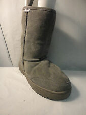 "Bearpaw ' Natural ' Unisex 9"" Boots Suede w/ Sheepskin Lining"