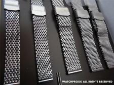 Dive Stainless Steel Mesh Bracelet Shark Band Metal Strap For Your Omega Watch