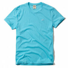 Hollister by Abercrombie Men Westard Beach Blue Crew-Neck T-Shirt Tee - $0 Ship