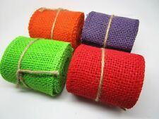 60mm*2yards Jute Burlap Hessian Ribbon Trim Rustic Wedding Crafts,4 Colors