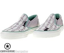 Converse Skid Grip Slip On Violet/Green Animal sneakers Size 4, 5 , 6 New
