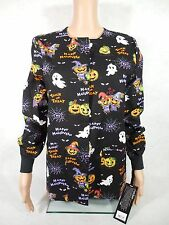 Cherokee Halloween Warm Up Scrub Jacket. Style 2643C. Ghouling Around. NEW