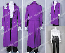 Purple Rain Prince Costume Rogers Nelson Dark Purple Cool Trench Coat Well Made