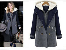 Winter Women new sexy Fashion Hooded Wool and long sections Coat jacket outwear