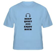 "NWOT Light Colors ""Keep Quiet and Enjoy Bach"" JOHANN SEBASTIAN BACH T-Shirt"