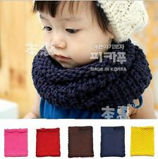 Children Kid Girls Boys Unisex Solid Neck Scarf Scarves Wrap Knitting CCAP5022