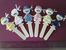 Bookmarks SOOo Cute Doll Bookmark Unique & VERY GIRLY Hand knitted dresses