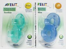 Avent Philips Soothie Pacifier Green 0-3 m / Blue 3 m+