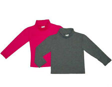Boys and Girls Cotton Spandex Long Sleeves Turtleneck (KIds 2 Year - 12 Year)