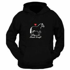 Draft Horse Hoodie Top for Adults Unisex Equestrian wear Rider clothing XS - 4XL