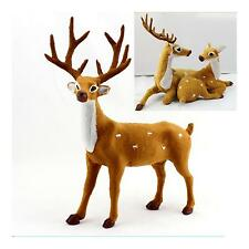 Reindeer Sika Deer Decor Outdoor Ornament Xmas Christmas Holiday Party1Pcs/Pair