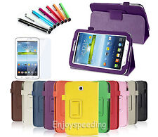 "Cool Faux Leather Case Cover Stand For Samsung Galaxy Tab 3 7.0"" 7"" Tablet P3200"