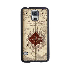 Harry Potter Marauder's Map Mischief Rubber Case For Samsung Galaxy S4 or S5