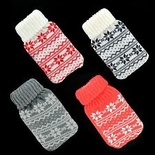 New Reusable Knitted Hand Warmers Instant Heat hot Water Bottle Pocket Gel Pads