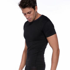 Mens Compression T Shirt Base Layer Short Sleeve Thermal Under Wear Fitness Top