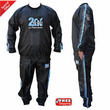 Heavy Duty 2Fit Sweat Suit Sauna Exercise Gym Suit Fitness Weight Loss Anti-Rip