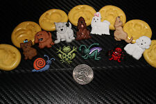 Flexible Silicone Push Mold Fondant Clay dogs, heart, zoo, cat, dress, hors more