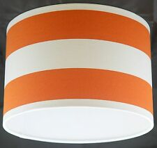 Lampshade Handmade with Orange and White Deck Chair Stripe Fabric VARIOUS SIZES