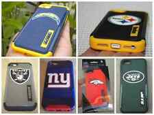 For iPhone 5 5S  NFL Official Forever Hybrid Hard Matte Case Cover Jet / Broncos