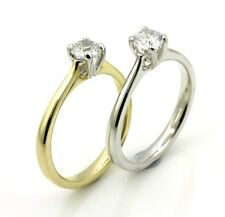 Quality 9ct Gold Solitaire Moissanite (0.50ct to 2.00ct) Engagement Ring (tr03m)