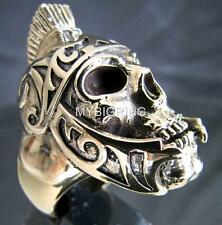 ARTWORK BIKER BRONZE RING ROMAN LEGION GLADIATOR WARRIOR SKULL CLUB MC ANY SIZE