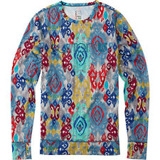 Burton Snowboards Winter 2015 Womens Midweight Thermal Crew Top Kasbah Snow/Ski