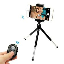 Selfie Bluetooth Wireless Remote + Extendable Tripod Mount Holder For Cell Phone