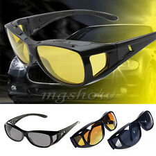 Night Optic Vision Driving Anti Glare HD Glasses UV Wind Protection Eyeglasses