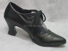 Downton Abbey Gatsby Flapper 1920's 1930's style black peakaboo lace up shoe