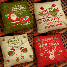 Quality xmas santa reindeer cushion pillow cover case festive home decor gift