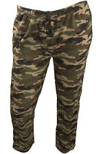 Mens Camo Print Fleece Pajama Pants