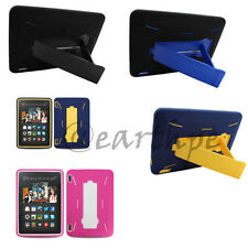 "For Amazon Kindle Fire HDX 7 7"" Rugged Hybrid Armor Kickstand Case Cover"