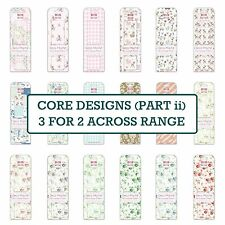 CORE RANGE 2 Deco Mache Paper Sheets x3 First Edition Patch/Decopatch/Trimcraft
