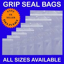 Grip Seal GRIPSEAL bags Resealable Clear Plastic ZIP LOCK Polythene bag Cheapest