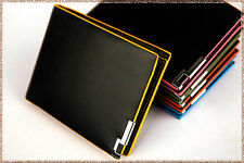 Mens Luxury Soft Black Quality Leather Wallet Bifold Credit Card Holder Purse
