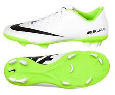 Nike JR Mercurial Veloce FG YOUTH Soccer Cleats 555632-103 White/Electric Vapor