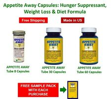 Appetite Away Capsules: Hunger Suppressant Weight Loss Diet Formula+samples pack