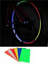New WHEEL DECAL BRIGHT REFLECTOR REFLECTIVE STICKERS CYCLING BIKE REFLECTORS