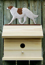 Bird House W/ Borzoi on Peak. Home,Yard & Garden Dog Breed Products & Gifts