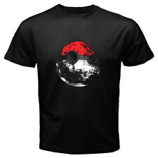 New Pokemon Death Star Pokeball Cartoon Games Men's Black T-Shirt Size S-3XL