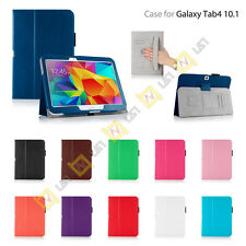 For Samsung Galaxy Tablet Tab 4 10.1 PU Leather Skin Stand Case Cover Accessory