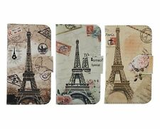 3 Colors Eiffel Tower PU Leather Flip Case Cover Skin for LG Sony Xperia Phones