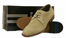 Mens Designer Dress Casual Lace Up Suede Brogue Shoes In Beige Bottesini