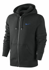 Men's New Nike Fleece Hoodie Zip Hoody Hooded Sweatshirt Jumper Pullover - Black