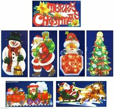 New Christmas Metallic Window Wall Silhouette Light Up Decoration 5 Designs Xmas