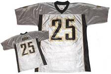 NWT Reggie Bush #25 New Orleans Saints NFL Mens V-Neck Dazzle Jersey - Gray