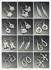 Fashion Mix  Style Rhinestone Silver Plated Charm Drop/Dangle Alloy Earrings