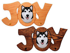 Alaskan Malamute Joy Leash Holder. In Home Wall Decor Wood Products & Pet Gifts.
