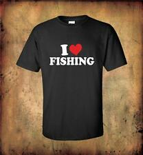 I LOVE FISHING T Shirt 100% Quality Cotton COOL TEE GIFT FOR DAD BROTHER