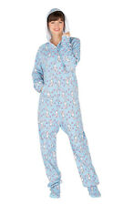Footed Pajamas - Bunny Love Adult Hoodie Cotton
